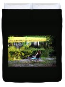 Morning By The Pond Duvet Cover