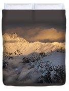 Mount Rolleston At Dawn Arthurs Pass Np Duvet Cover