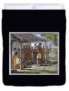 Native American Council, C1835 Duvet Cover