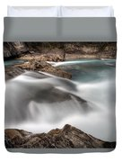 Natural Bridge Yoho National Park Duvet Cover