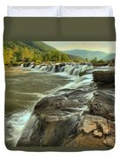 New River Waterfall Duvet Cover