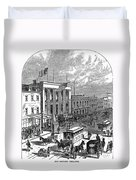 New York: The Bowery, 1871 Duvet Cover