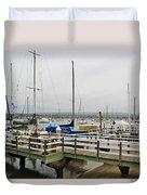 Newport Bay And Balboa Island Duvet Cover
