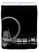 Night Image Of The London Eye And River Thames  Duvet Cover