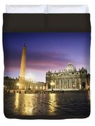 Nightfall At The Square At St. Peters Duvet Cover