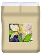 No Ordinary Orchid Duvet Cover