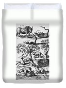 North America: Fauna Duvet Cover