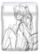 Nude Male Sketches 3 Duvet Cover
