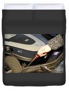 Oil Check Duvet Cover