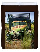 Old Green Truck Duvet Cover by Garry Gay
