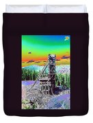 Old Mining Structure Duvet Cover