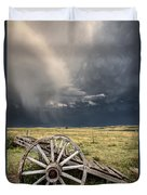 Old Prairie Wheel Cart Saskatchewan Duvet Cover