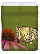 Oldworld Swallowtail Papilio Machaon Duvet Cover