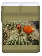 Orange Cactus Flower Duvet Cover