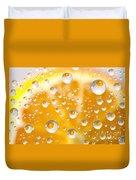 Orange Water Drops Duvet Cover