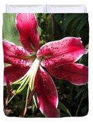 Orienpet Lily Named Scarlet Delight Duvet Cover