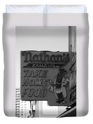 Original Nathan's In Black And White Duvet Cover