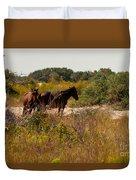 Outer Banks Horses Duvet Cover