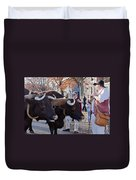 Oxen And Handler Duvet Cover