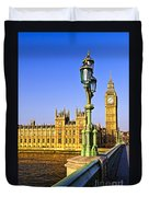 Palace Of Westminster From Bridge Duvet Cover