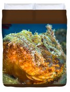 Papuan Scorpionfish Lying On A Reef Duvet Cover