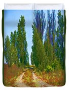 Paradise Road Duvet Cover by Randall Nyhof