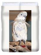 Parrot White Duvet Cover