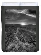 Path To The Sun   Black And White Duvet Cover