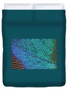 Peacock Feather Duvet Cover