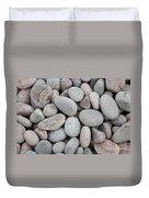 Pebbles On Beach Duvet Cover