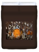 Percula Clownfish In Its Host Anemone Duvet Cover