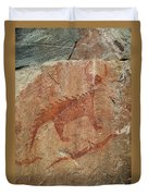 Petroglyph At Agawa Rock Duvet Cover