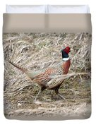 Pheasant Walking Duvet Cover