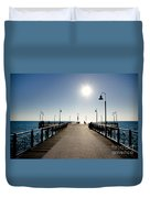 Pier In Backlight Duvet Cover