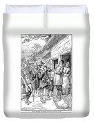 Pilgrims: Thanksgiving, 1621 Duvet Cover