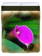 Pink Calla Duvet Cover