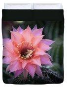Pink Echinopsis Duvet Cover
