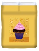 Pink Frosted Cupcake Duvet Cover