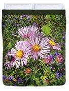 Pink New York Aster- Symphyotrichum Novi-belgii Duvet Cover