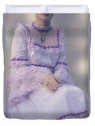 Pink Wedding Dress Duvet Cover