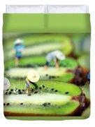 Planting Rice On Kiwifruit Duvet Cover