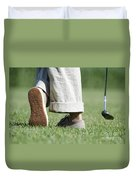 Playing Golf Duvet Cover