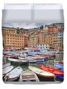 Port Of Camogli Duvet Cover by Joana Kruse