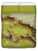 Potassium Salt Deposits, Dallol Duvet Cover