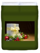 Present Decorated With Christmas Decoration Duvet Cover