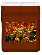 Pumpkins And Gourds Duvet Cover by Elena Elisseeva