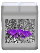 Purple Polyphemus Duvet Cover