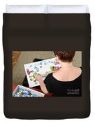 Puzzle Therapy Duvet Cover