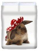Rabbit Wearing A Hat Duvet Cover