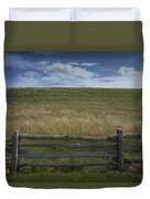 Rail Fence And Field Along The Blue Ridge Parkway Duvet Cover